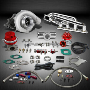 Details about T04  63AR 400+HP BOOST 9PC TURBO CHARGER+MANIFOLD KIT FOR  VOLVO B20/B23/B230 16V