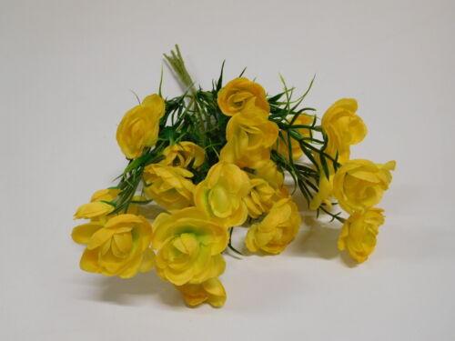 Rosenstrauß Rose Strauß Seidenblume Kunstblume 32 cm gelb 40107-04 F13
