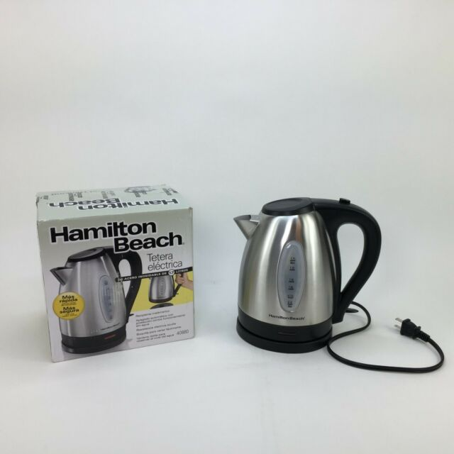 Hamilton Beach 40880 Stainless Steel Electric Kettle 1.7-Liter Silver Tea Coffee