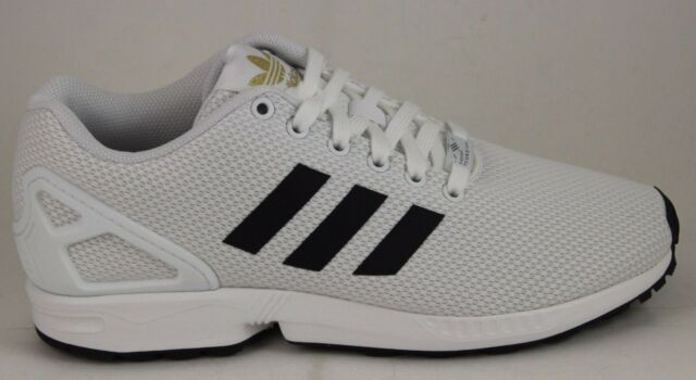 bb586ce6ab612 Adidas Men s ZX Flux White Black Gold BA8655 Brand New in Box!