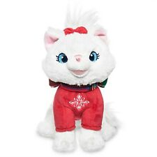 "DISNEY STORE MARIE HOLIDAY PLUSH MINI BEAN BAG 6"" H SEATED CHRISTMAS 2016 NWT"