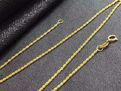 Wholesale Pure 18K Yellow Gold Necklace Solid AU750 Twisted Rope Chain Necklace