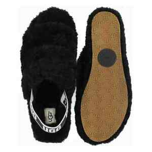 73286dd0399 Details about New UGG Australia Women's Fluff Yeah Slide Sheepskin Slipper  Black Or Charcoal