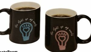 Set Of 2 Color Changing Mugs 11.5 Fl Oz Heat Activated New In Box Valentine Gift