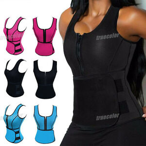 560b4d35c86d8 Hot Sweat Sauna Body Shaper Women Slimming Vest Heat Thermo Neoprene ...