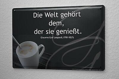 Blechschild Küchenschild Kaffe Pause Metallschild 20x30 cm