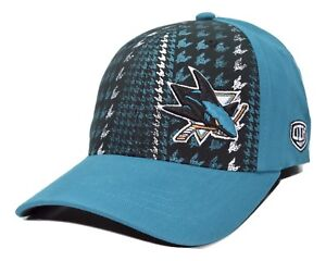 San-Jose-Sharks-OTH-NHL-Hockey-Canal-Houndstooth-One-Size-Stretch-Fit-Cap-Hat