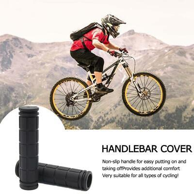 1pair Non-Slip Rubber Mountain Bike Components Bicycle Covers Grips Handle E8C9