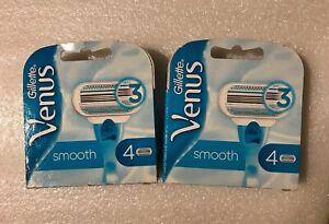 8-Gillette-Venus-SMOOTH-Klingen-Rasierklingen-Aloe-Ersatzklingen