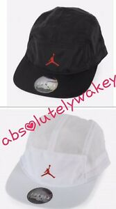 cd0ee866 Nike Air Jordan AW84 Jumpman Hat Cap 5 Panel Crinkled Toggle ...