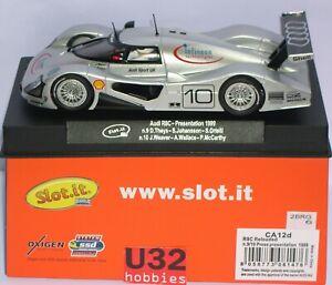 Slot.it Ca12d Présentation de l'Audi R8c 1999 Infineon # 9 Theys-johansson # 10 Weaver