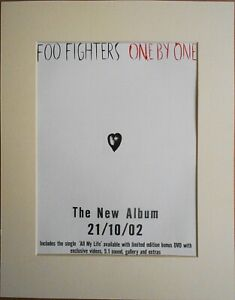 FOO-FIGHTERS-One-By-One-2002-Music-Press-Poster-Type-Advert-In-Mount