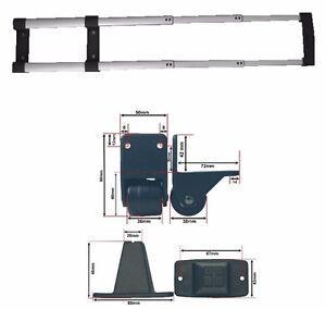 koffer trolley system fahr gestell gep ck sack karren mit separaten rollen 60718 ebay. Black Bedroom Furniture Sets. Home Design Ideas