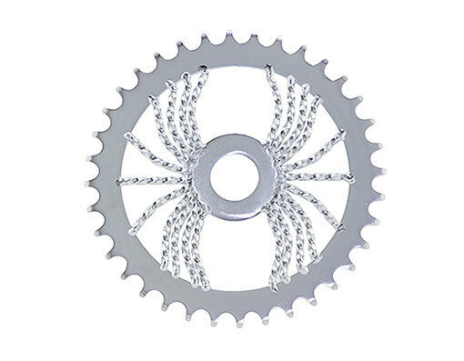 BICYCLE LOWRIDER CHAINRING TWISTED SPIDER 36T X 1/2 X X X 1/8 CHROME BIKES NEW 46ad62