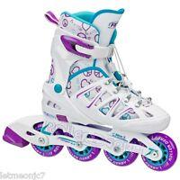 Inline Skates Girls Boys Roller Blades For Kids Rollerblades Adjustable Medium