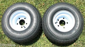 New Set Of 2 Tires And 5 Lug Wheels For Golf Cart Carts