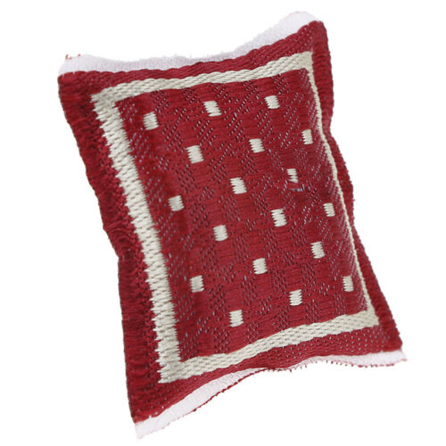 1:12 Dollhouse turkish square pillow cotton linen core miniature accessorie CWI