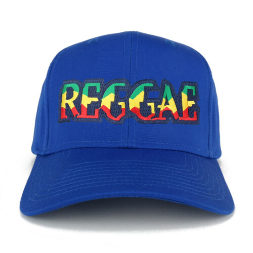 REGGAE RGY Text Cutout Iron on Embroidered Patch Adjustable Baseball Cap