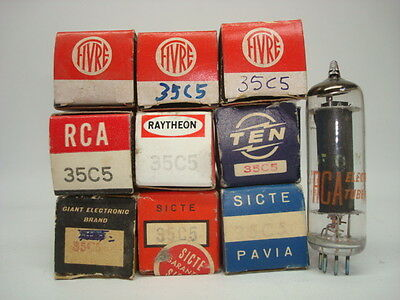 35C5 TUBE = HL94 HL94 REPLACEMENT WITH 35 VOLTSFILAMENT POWER NOS /& NIB.