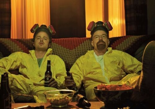 Breaking Bad Yellow Suits and Beer Scene POSTER