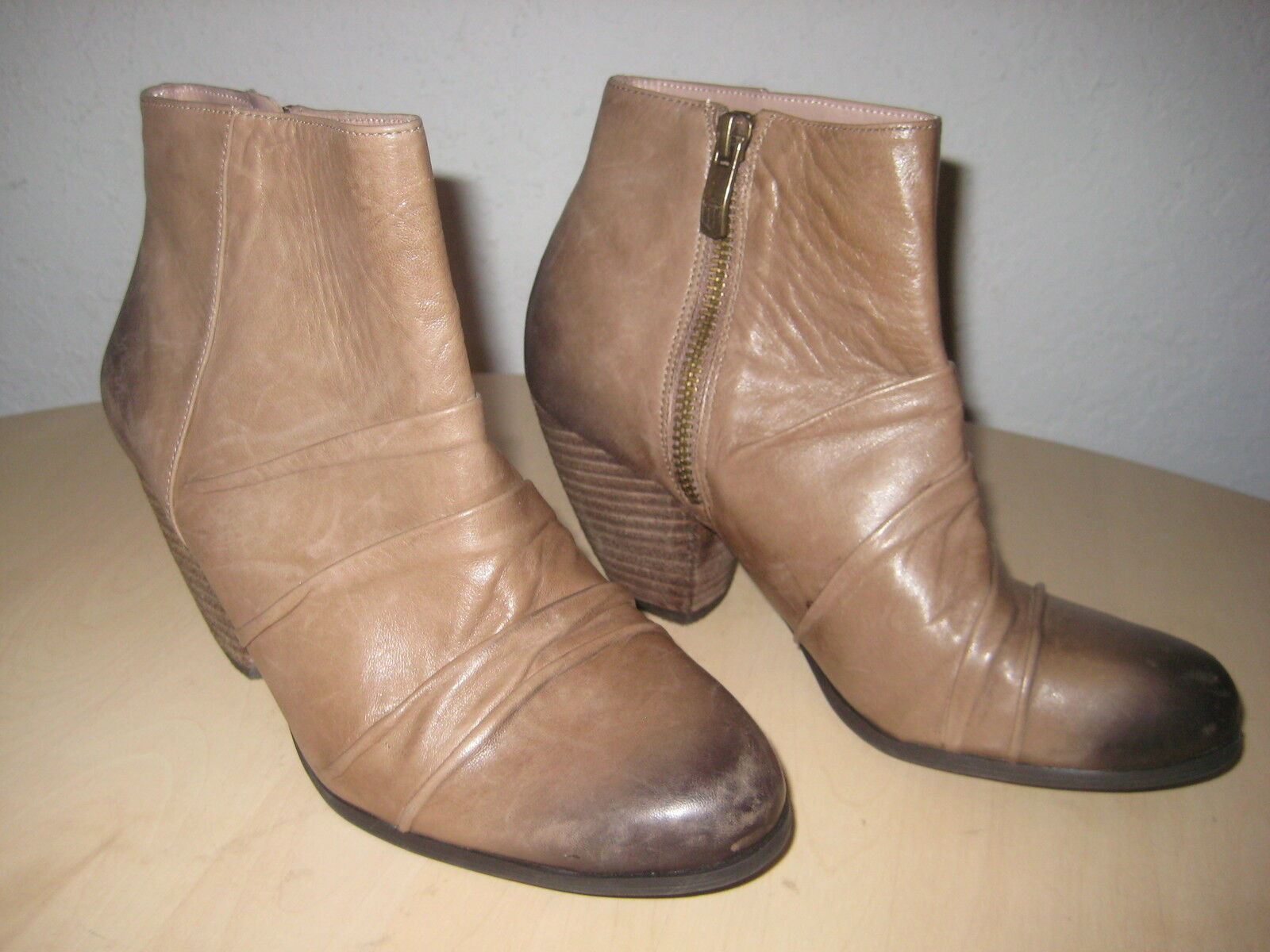 Vince Camuto shoes Size 5.5 M Womens New Handella Mochaccino Leather Ankle Boots
