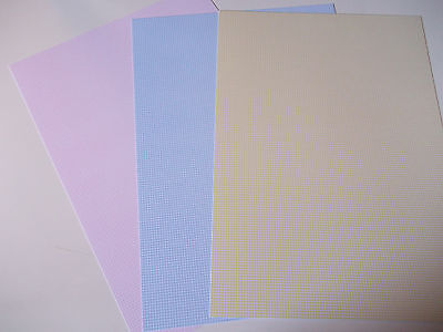 6 A4 Sheets Gingham Pattern Single Sided Card 250gsm Various Colours