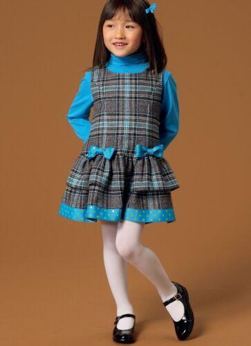 Mc... Free UK P/&P McCalls Girls Easy Sewing Pattern 7008 Pinafore Dresses