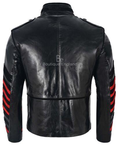 hommes Veste militaire Black bataillon Studded 4234 Glaze Classic du en cuir des 4x4nrp