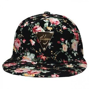 2eb852ec60e Details about Men Women Floral Flower Snapback Hip-Hop Hats Flat Peak Adjustable  Baseball Caps