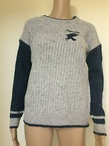 Harry Potter Knitted Jumper Women/'s Ladies Gryffindor Hufflepuff Ravenclaw New!