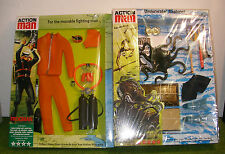 VINTAGE ACTION MAN 40th CARDED ORANGE FROGMAN & TREASURE HUNTER UNDERWATER EXPLO