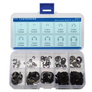 External-Retaining-Ring-E-Clip-Assortment-Set-Pack-of-120-piece-Spring-Steel