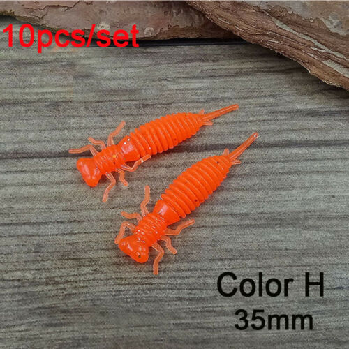 35mm 50mm Artificial  Carp Silicone Larva Fishing Lures Swimbait Soft Bait