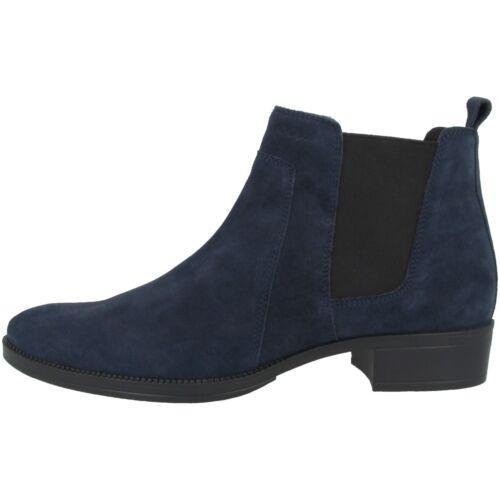 GEOX D Laceyin B Schuhe Damen Leder Stiefel Stiefeletten navy D04BFB00022C4002