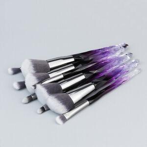 10pcs-Makeup-Brush-Powder-Foundation-Eyeshadow-Brushes-Crystal-Handle-Brushes