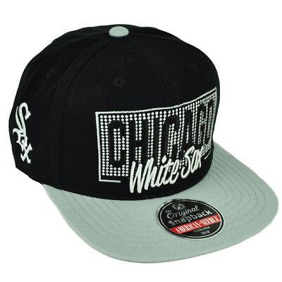 3769c799d0351 MLB American Needle Chicago White Sox Snapback Flat Bill Hat Cap Black  Sports