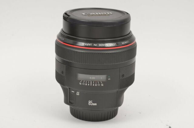 EXC++ USA CANON EF 85mm f1.2L II USM LENS, CAPS, VERY CLEAN & SHARP!