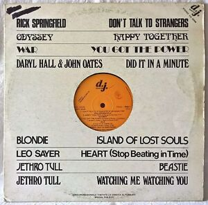 BLONDIE-HALL-amp-OATES-JETHRO-TULL-DJ-SPECIAL-PROMO-LP