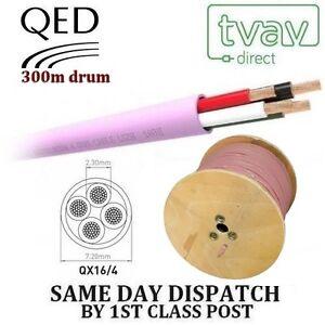 QED-QX16-4-4-Core-Faible-Fumee-Zero-Halogene-Cable-Haut-Parleur-ROSE-300m-rythme