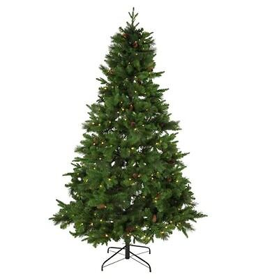 Berry and Cone Green Artifical Christmas Xmas Tree 7ft 213cm RRP £49.99