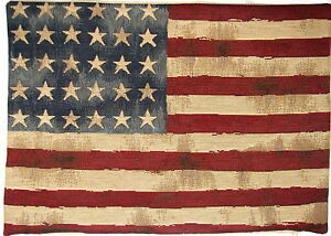 18-Pulgadas-45-Cm-X-14-034-35cm-Vintage-Bandera-Usa-Stars-amp-Stripes-Tapiz-cubierta-Cojin-4801