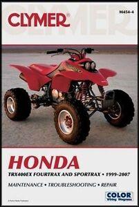 honda fourtrax sportrax trx400ex trx 400ex manual 99 00 01 02 03 04 rh ebay com honda 400ex parts manual honda 400ex manual free download