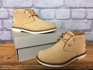 LACOSTE-CHILDRENS-BOYS-UK-10-EU-28-TAN-SHEERBROOKE-SUEDE-BOOTS-RRP-65