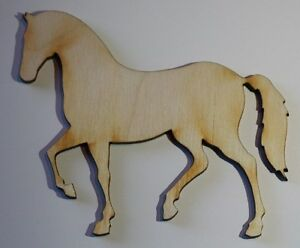 3 3 inch x 2 6 inch horse craft project wood cutout for Wooden horseshoes for crafts