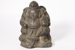 Japanese old Bronze Ebisu Daikokuten Ornament okimono BOS334