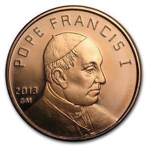 1-oz-999-Kupfer-Copper-Medaille-Muenze-Papst-Franziskus-Pope-Francis-NEU-Selten