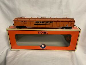 LIONEL-BNSF-SWOOSH-52-6-GONDOLA-CAR-W-COVERS-6-81891-O-SCALE-TRAIN-DROP-END