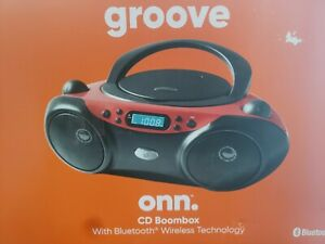 Onn Boombox CD Player with Bluetooth Aux In FM Radio C Battery Operable