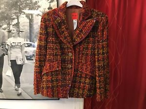 Rare-French-Chic-Vintage-Christian-Lacroix-Jacket-Size-EU-36-38-Made-in-France