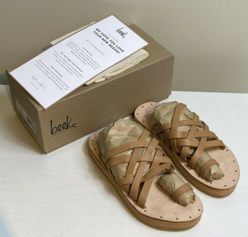 NEW Beek Two Birds Puffbird Slide Sandals Women's Size 7M NIB Anthropologie